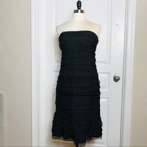 Oscar De La Renta Black Strapless Dress Size 12